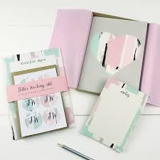 stationery set personalised stationery gift set heart by designs