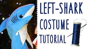 shark halloween costume left shark costume tutorial youtube