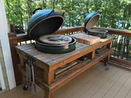 Green Egg Table by Our New Standard Double Grill Table Is Now Available I Build This