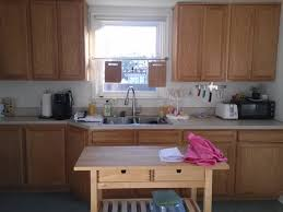 Kitchen Cabinets Facelift Facelift For Rental Kitchen Remove Cabinet Doors Apartment