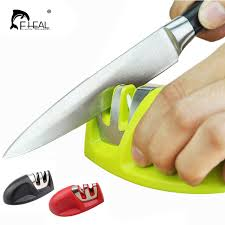 how to sharpen kitchen knives at home fheal portable kitchen knife sharpener two stages ceramic