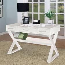 Computer Desk In Black Rectro Desk In Black Or White By Coaster Furniture Office