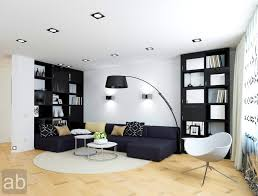 apartments tasty modern black and white living room designs home