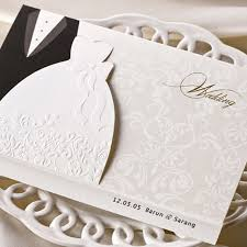 wedding card from to groom wedding invitations with pictures of and groom 1pcs sle
