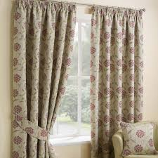 Marrakech Curtain Jacquard Floral Fully Lined Ready Made Curtains