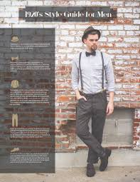 1920 u0027s style guide for men