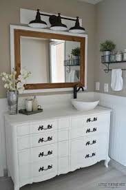 bathroom diy ideas ideas upcycled diy farmhouse bathroom vanity and one of a kind
