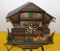 cuckoo clock head butting goats water wheel music cuckoo clocks
