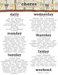 10 best images of weekly home chore chart daily weekly chore