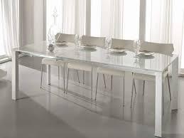 tavoli sala da pranzo allungabili tavolo account stones 140 base in metallo verniciato e piano vetro
