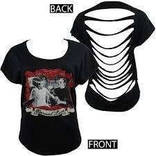 Frankenstein Shower Curtain by Bride Of Frankenstein Scoop Neck Cut Back T Shirt Eternal Love