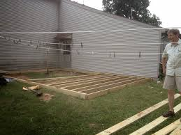 from dirt to deck how to build a ground level deck the wolven