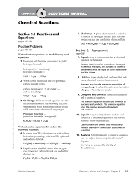 Worksheet Word Equations Write A Balanced Equation For Each Of The Following Reactions