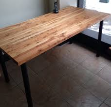 wood butcher block table 30 x 60 salvaged wood butcher block table with metal legs green