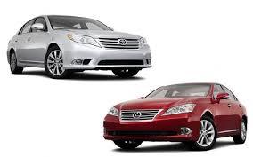 lexus and toyota same car 2011 lexus es350 vs toyota avalon