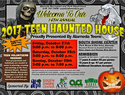 annual teen haunted house 2017 south shore center alameda