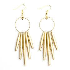 drop earring circle gold drop earring quazi design
