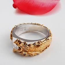 mens gold diamond rings aliexpress buy 14k white gold simulate diamond rings luxury