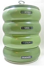 Green Canister Sets Kitchen 377 Best Canisters Images On Pinterest Vintage Kitchen Canister