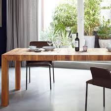 volta solid wood dining table extendable more ambientedirect com