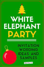 white elephant invitation wording allwording