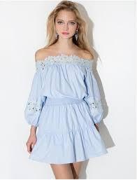 light blue long sleeve dress dress summer cute off the shoulder crochet blue light blue