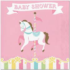 carousel baby shower carousel baby shower lunch napkins 16 birthday direct