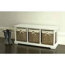 Wicker Storage Bench Storage Bench With Wicker Baskets Ikea White Storage Bench With