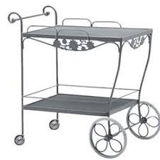 Brentwood Patio Furniture Brentwood Tea Cart Wrought Iron Patio Furniture By Woodard