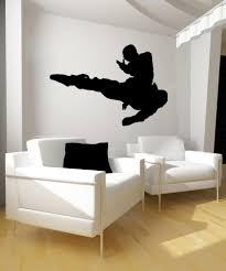 wall decals of people silhouette wall decals stickerbrand vinyl wall decal sticker martial arts kick os mb676