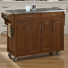 kitchen island stainless top august grove regiene kitchen island with stainless steel top
