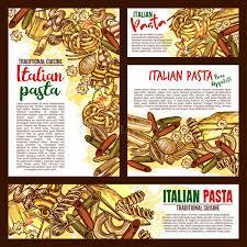 posters cuisine vector pasta cuisine sketch posters stock vector