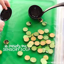 themed l st patricks day sensory soup and next comes l