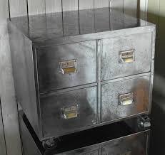 Retro Filing Cabinet Pair Of Vintage Industrial Steel Bedside Filing Cabinet Home