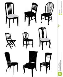 Office Chair Vector Side View Antique Chair Silhouette