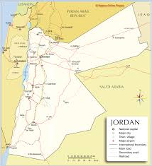 World Map Of Deserts Political Map Of Jordan Nations Online Project
