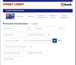 apply for hobby lobby credit card check application status