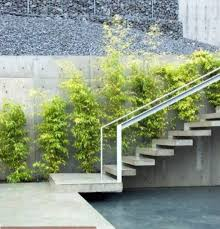 sloped backyard with outdoor floating stair attractive outdoor
