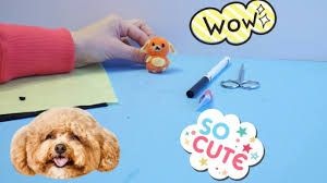 pompom crafts for kids diy cute pompom puppy youtube