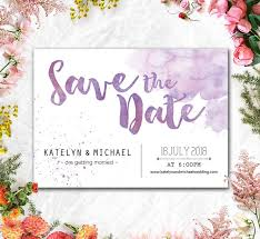Digital Save The Date Printed Card Digital Printable Files Save The Date Purple