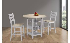 counter dining chairs ridgewood weathered birch 3pc counter dining set my furniture place