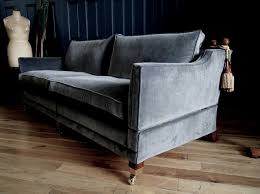 Grey Velvet Sofas Trafalgar Sofa Re Upholstered In Luxurious Italian Grey Velvet