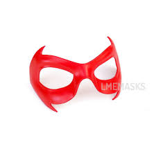 Red Robin Halloween Costume Red Robin Leather Mask Nightwing Mask Red Hood Arkham