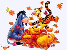 disney autumn winnie the pooh eeyore and tigger wallpaper