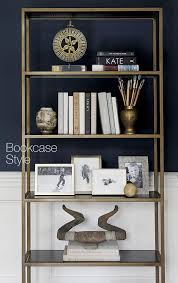 how to style a bookcase bookcase decorating ideas crate barrel blog