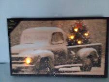 radiance flickering light canvas ohio wholesale radiance lighted merry christmas pick up truck canvas