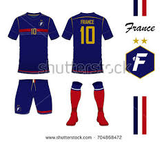 set soccer jersey football kit template imagem vetorial de banco