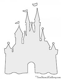disney castle stencil art studio ideas stenciling