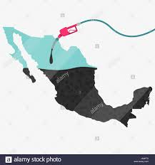 The Map Of Mexico by Map Of Mexico Being Fueled By Oil Gas Pump Fueled Map On The Map