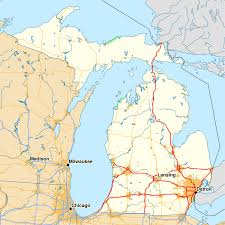 Map Of Usa With Highways by List Of Interstate Highways In Michigan Wikipedia